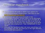technician handbook