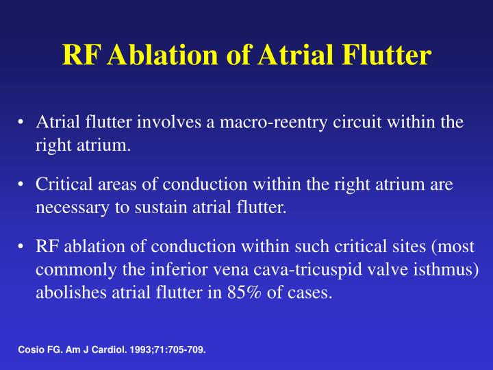 RF Ablation of Atrial Flutter