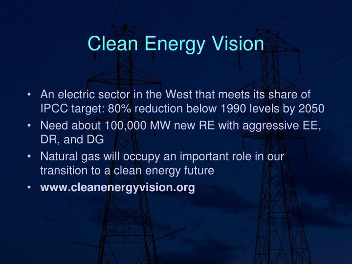 Clean energy vision