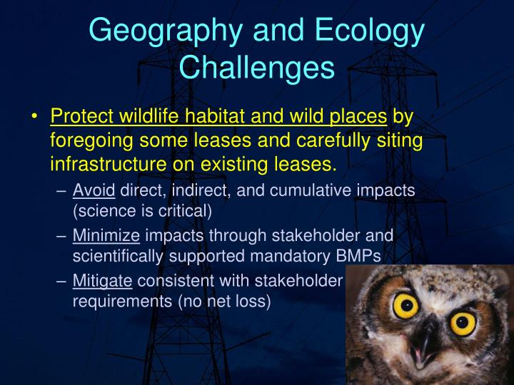 Geography and Ecology Challenges