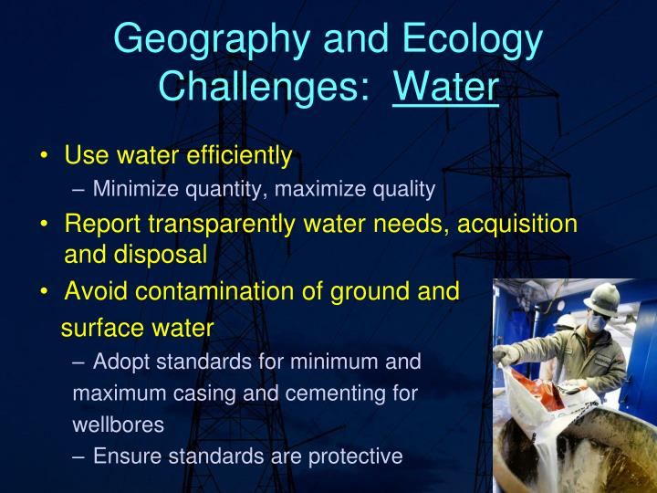 Geography and Ecology Challenges: