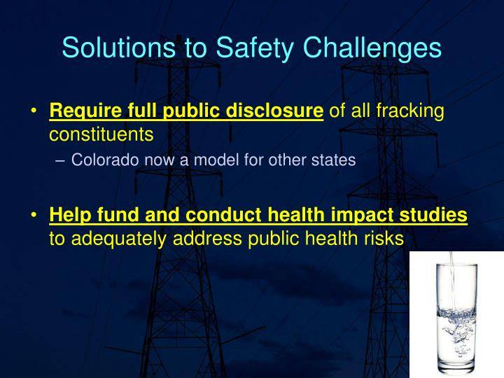 Solutions to Safety Challenges