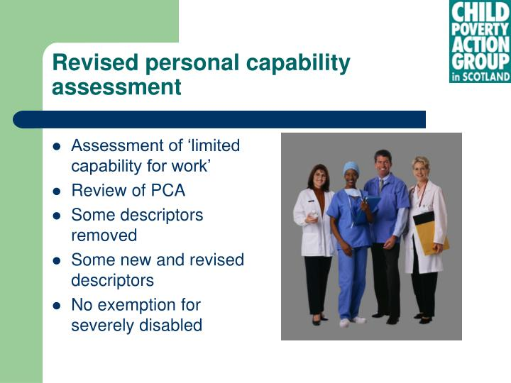 Revised personal capability assessment