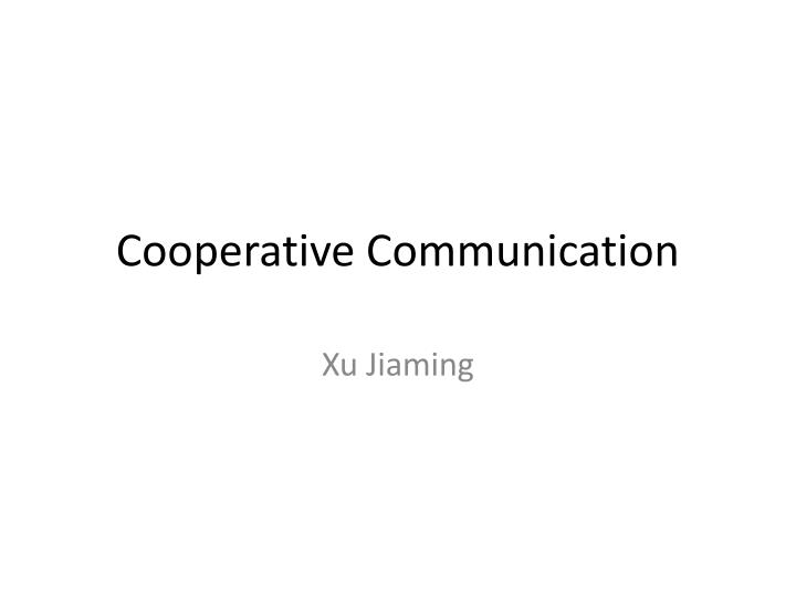 cooperative communication n.