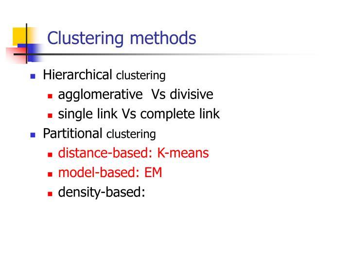 Clustering methods