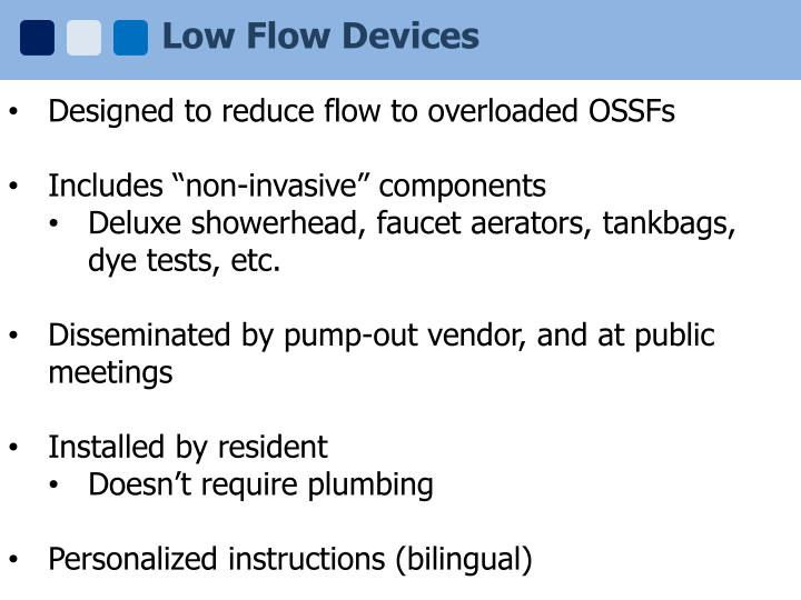 Low Flow Devices