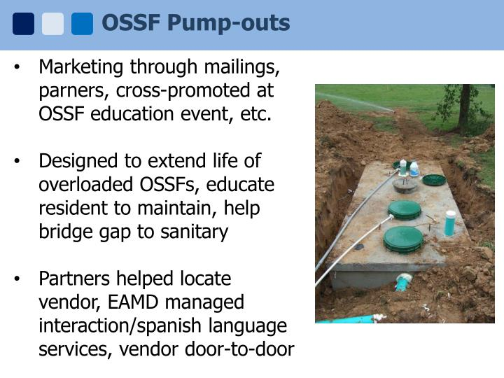 OSSF Pump-outs