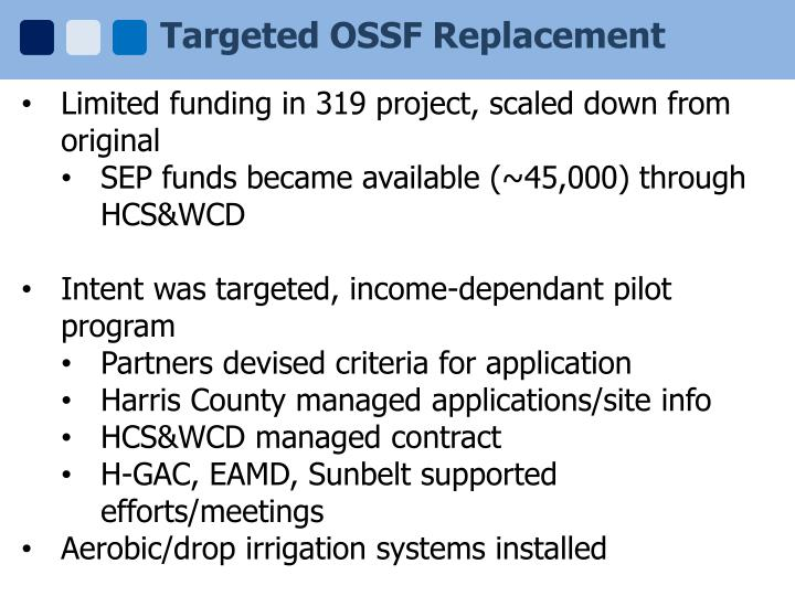 Targeted OSSF Replacement