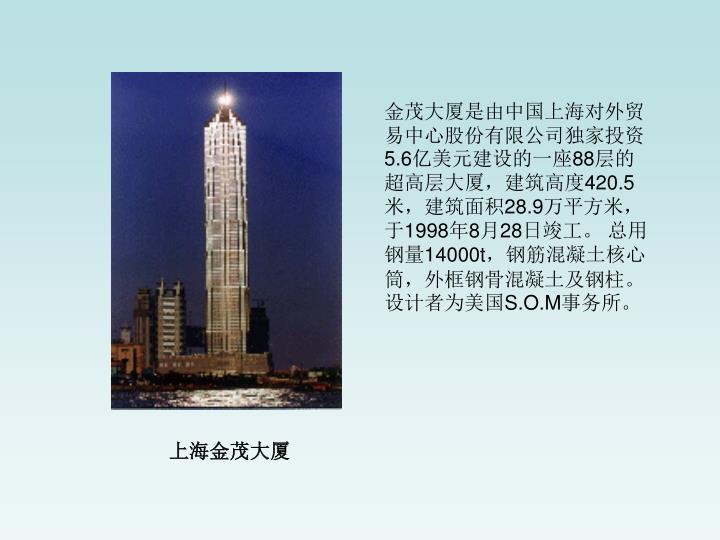 金茂大厦是由中国上海对外贸易中心股份有限公司独家投资