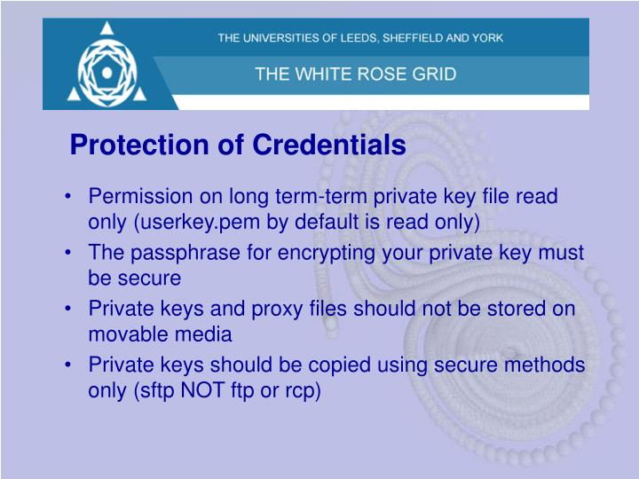 Protection of Credentials