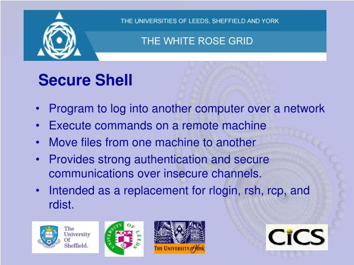 Secure shell2