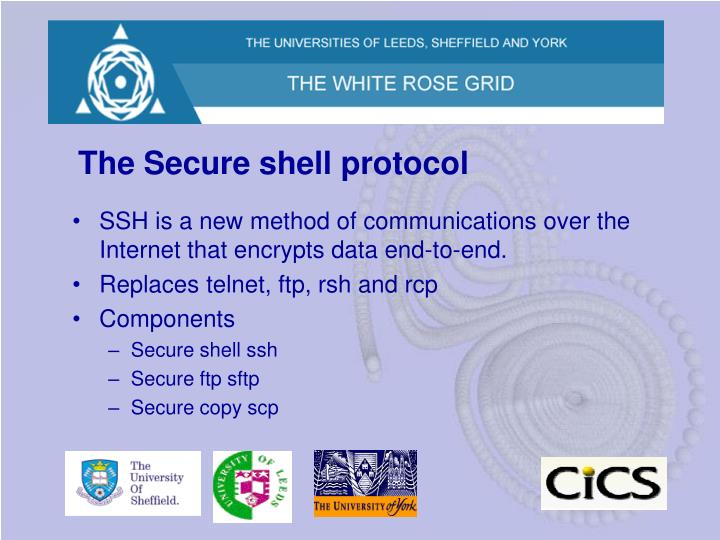 The Secure shell protocol