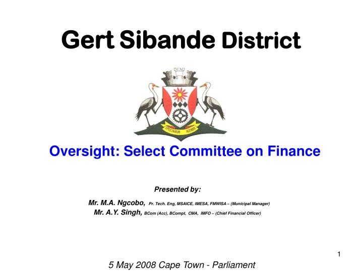 Gert sibande district