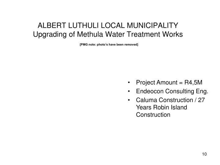 ALBERT LUTHULI LOCAL MUNICIPALITY