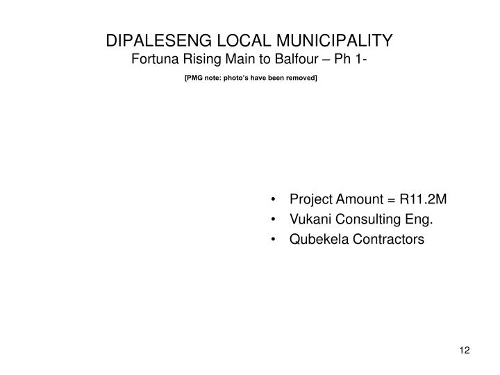 DIPALESENG LOCAL MUNICIPALITY
