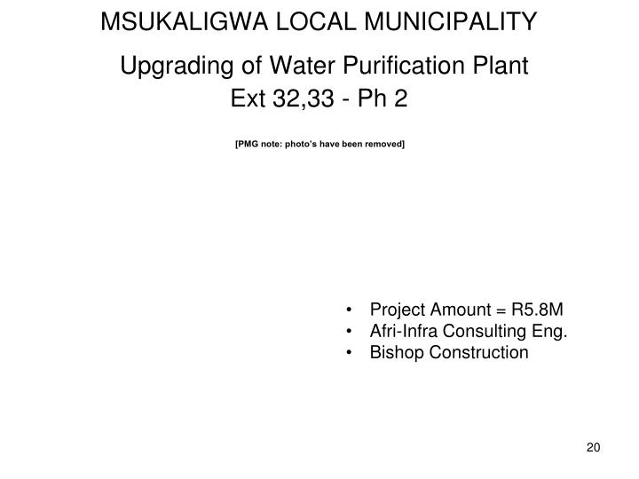MSUKALIGWA LOCAL MUNICIPALITY