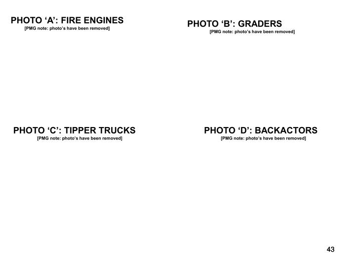PHOTO 'A': FIRE ENGINES
