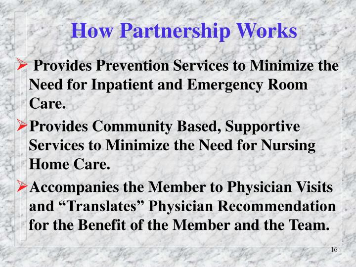 How Partnership Works