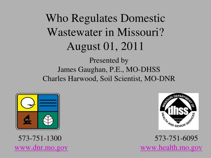 who regulates domestic wastewater in missouri august 01 2011