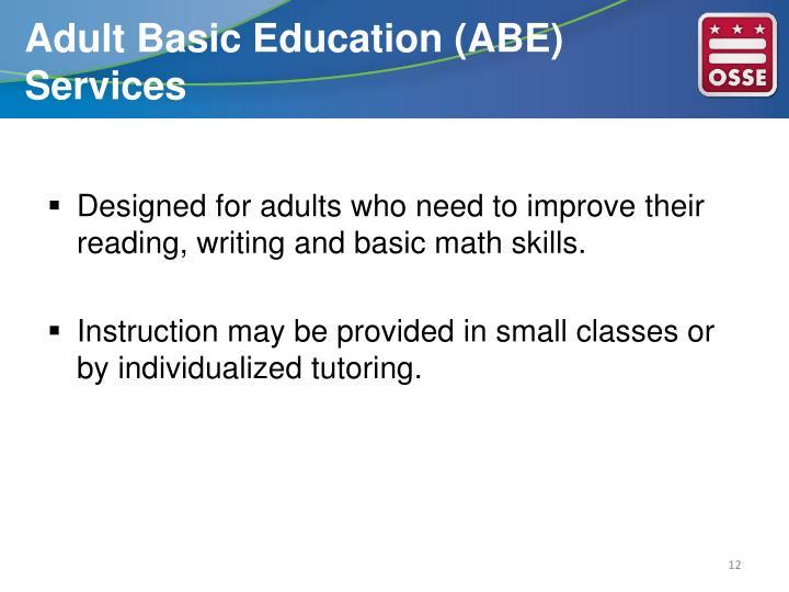 Adult Basic Education (ABE) Services