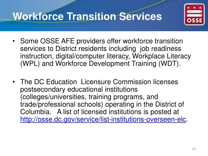 Workforce Transition Services