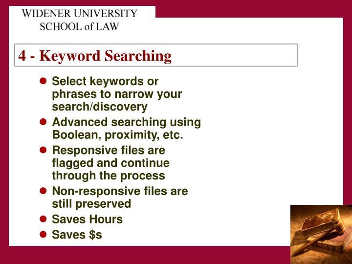 4 - Keyword Searching