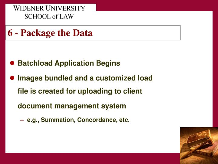 6 - Package the Data