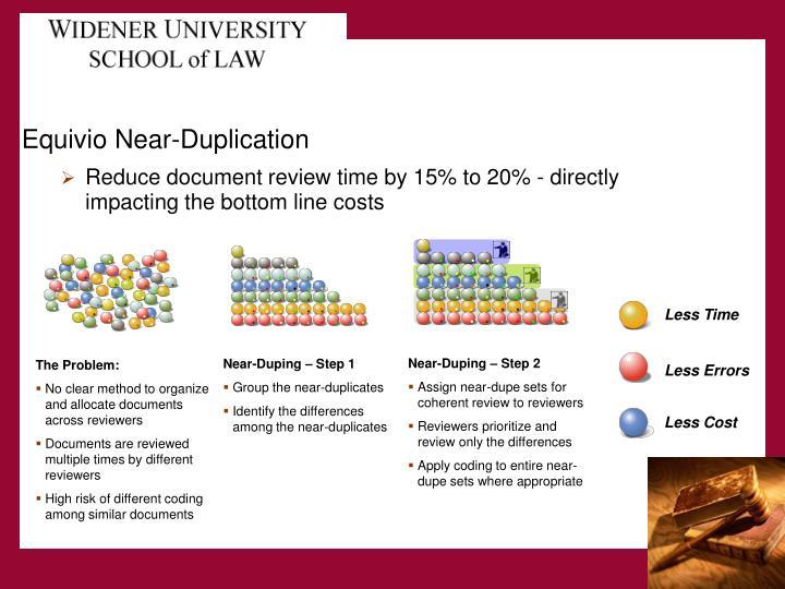 Equivio Near-Duplication