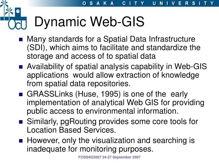 Dynamic web gis