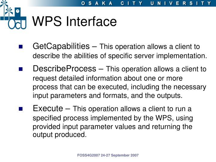 WPS Interface