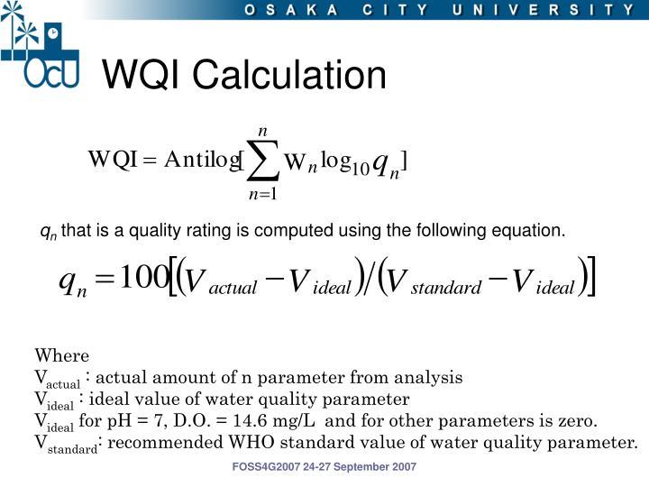 WQI Calculation