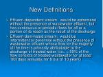 new definitions