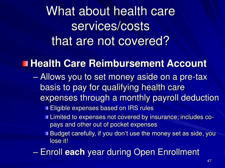 What about health care services/costs