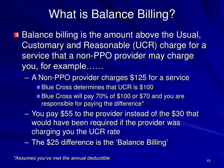 What is Balance Billing?