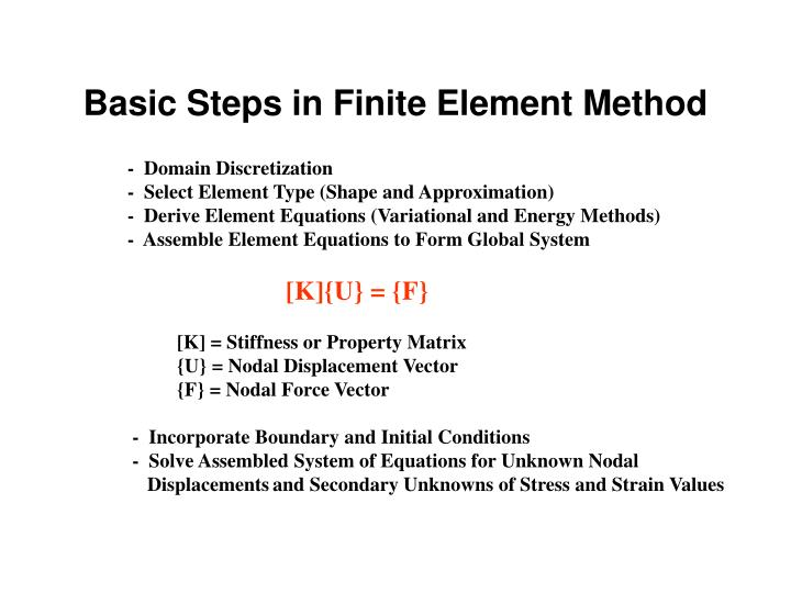 Basic Steps in Finite Element Method