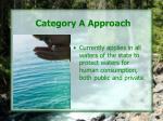 category a approach