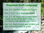 proposed draft language