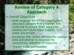 review of category a approach
