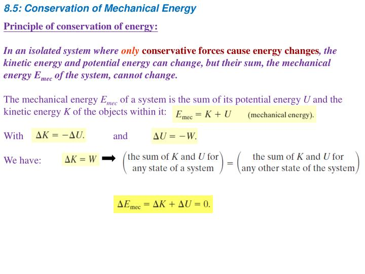 8.5: Conservation of Mechanical Energy