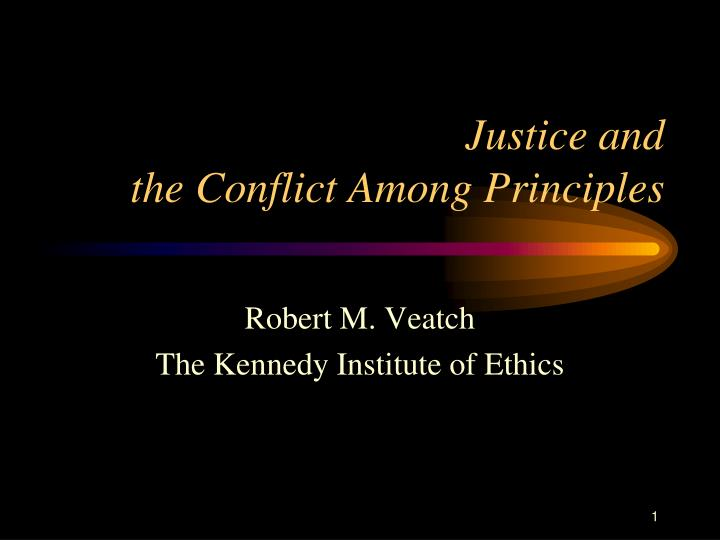 Justice and the conflict among principles