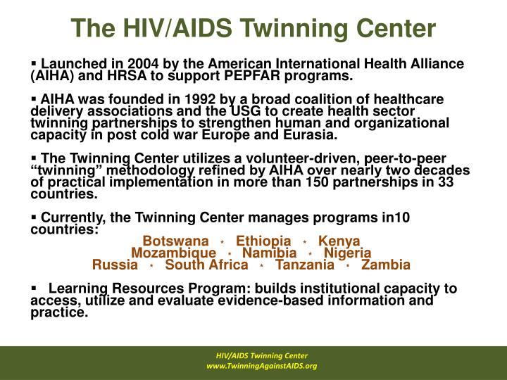 The hiv aids twinning center