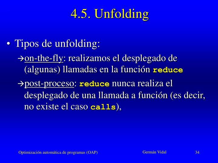 4.5. Unfolding
