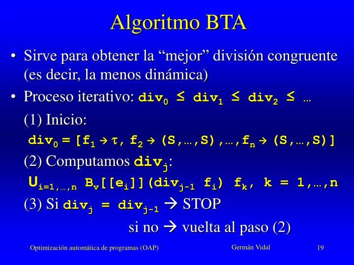 Algoritmo BTA