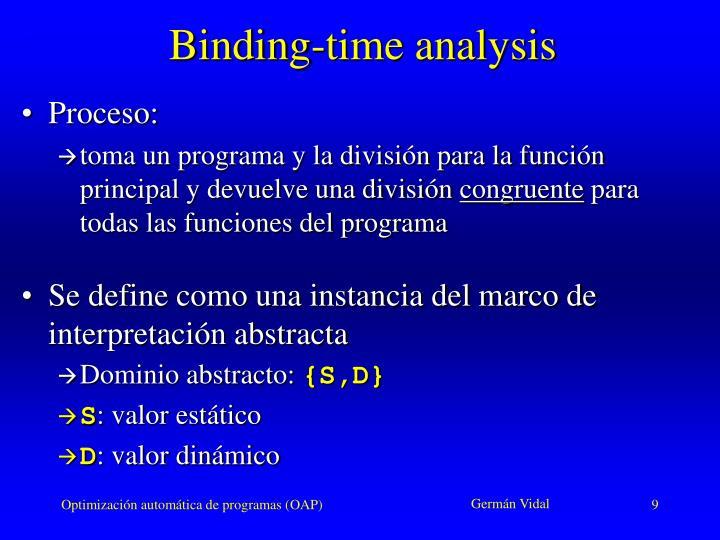 Binding-time analysis