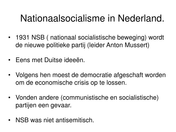 Nationaalsocialisme in Nederland.