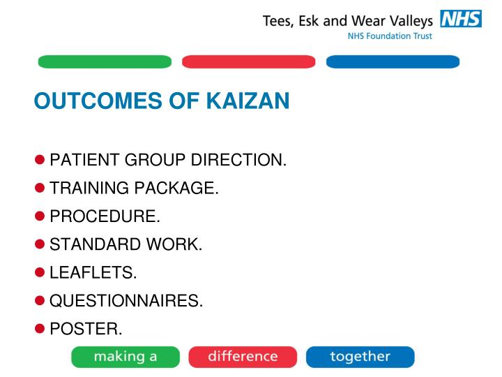 OUTCOMES OF KAIZAN