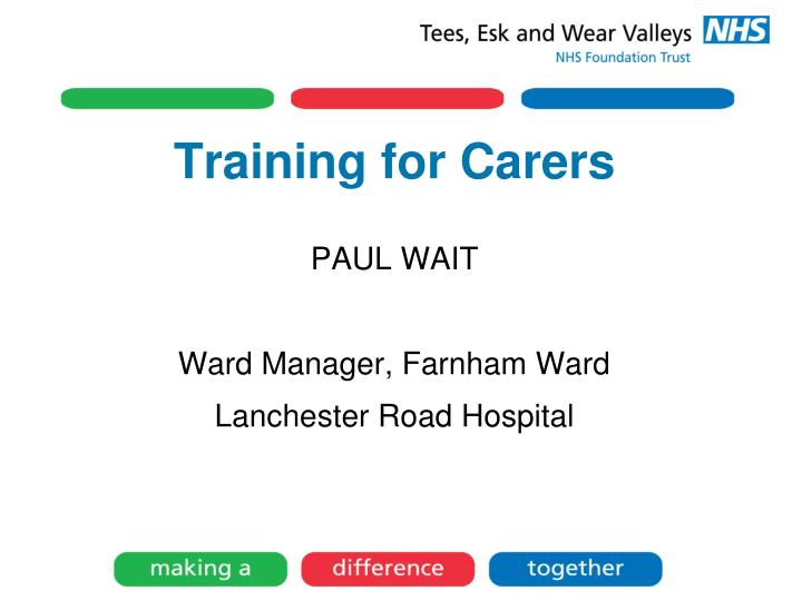 Training for Carers