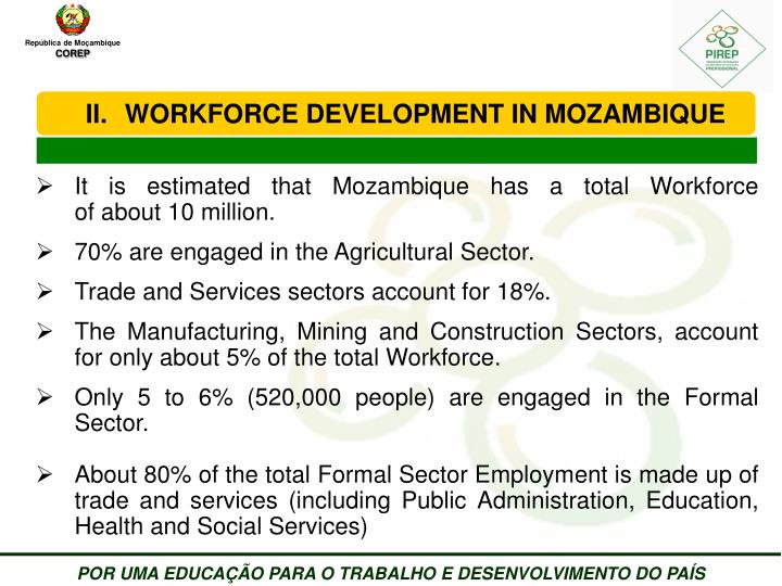 WORKFORCE DEVELOPMENT IN MOZAMBIQUE