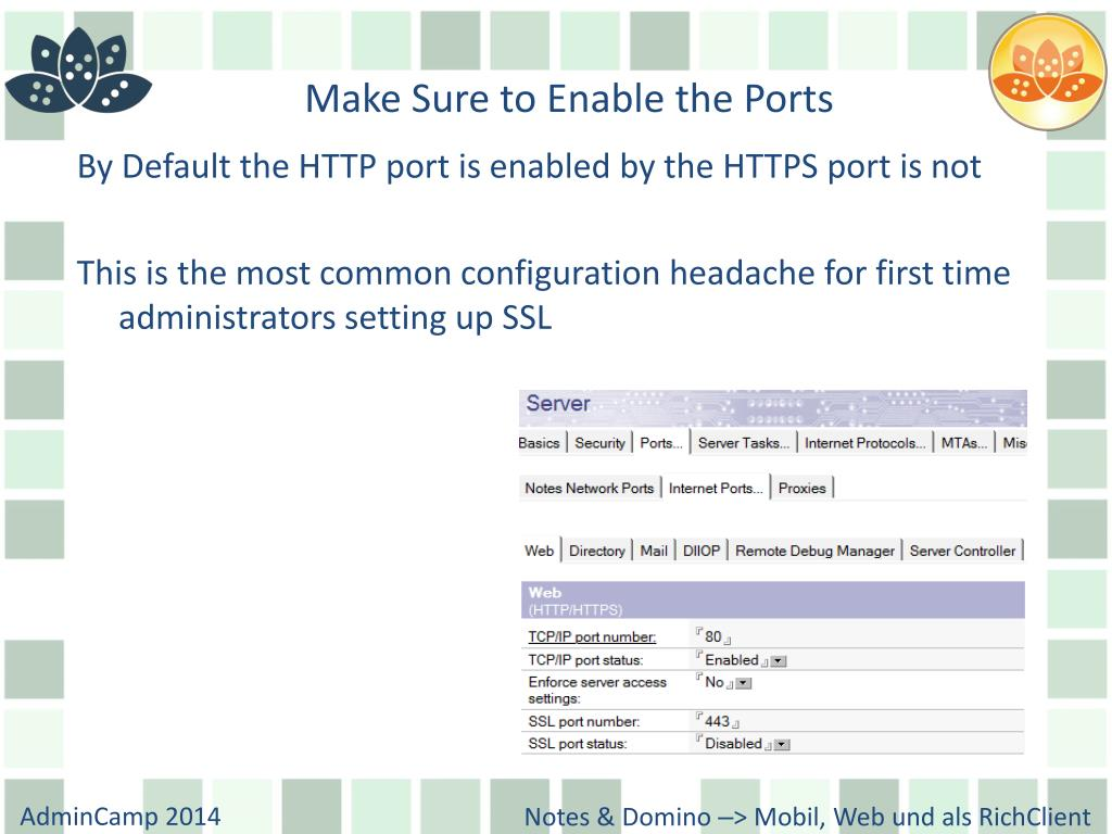 PPT - Extreme Domino HTTP Configuration PowerPoint Presentation - ID