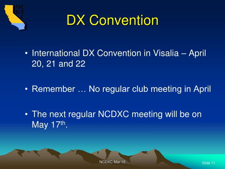 DX Convention